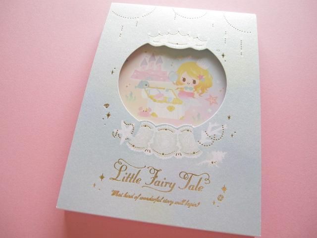 Photo1: Kawaii Cute Large Memo Pad Little Fairy Tale Q-LiA *Little Mermaid (04564)
