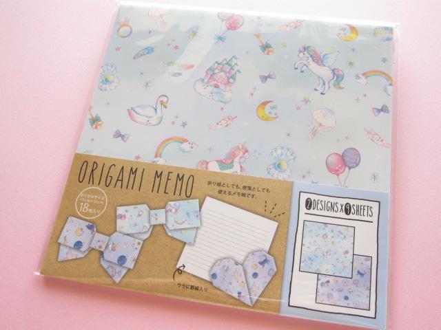 Photo1: Kawaii Cute Origami Memo Paper Q-lia (10038)
