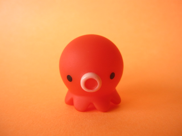 Photo1: Octopus Takochu Plastic Mini Figure Toy *Red