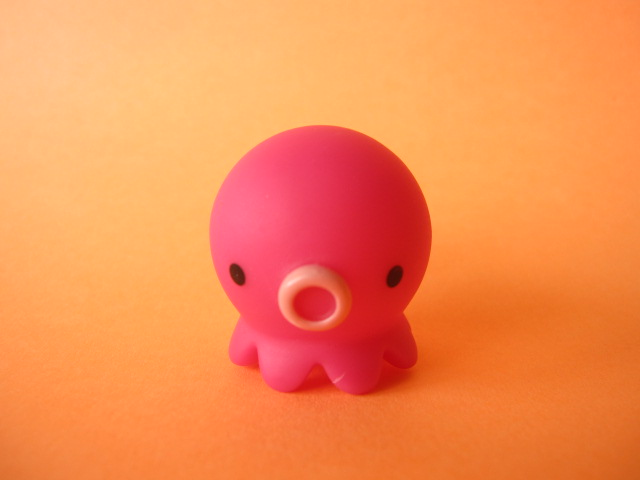 Photo1: Octopus Takochu Plastic Mini Figure Toy *Pink