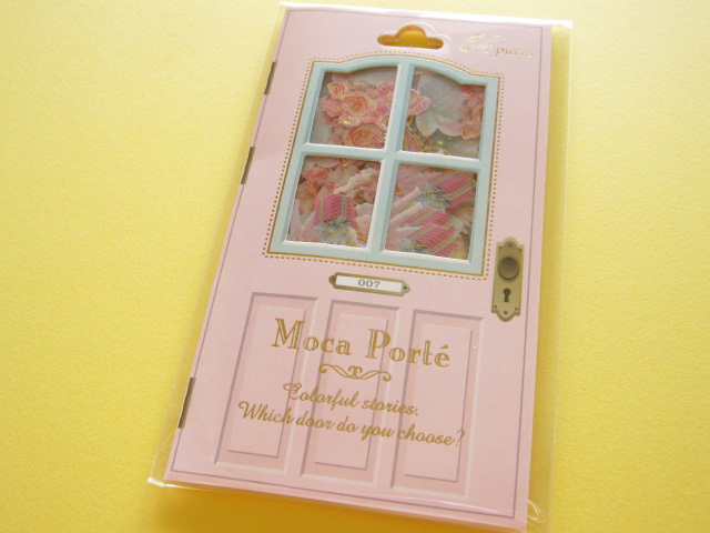 Photo1: Antique Sticker Flakes Sack Moca Porte Q-LiA *Happy Birthday (91217)