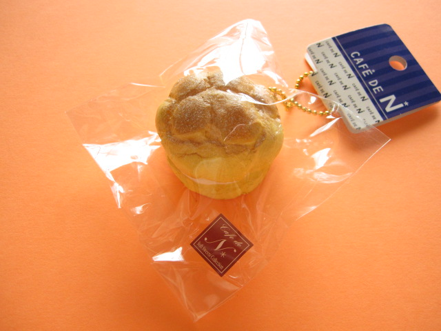Photo1: Cafe de N Squishy Keychain Charm Nic *Cream Puff Double Cream (CDN04-2)