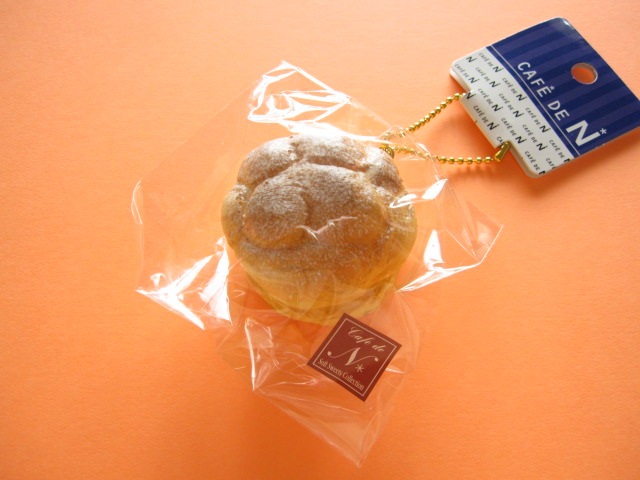 Photo1: Cafe de N Squishy Keychain Charm Nic *Cream Puff Custard Cream  (CDN04-1)
