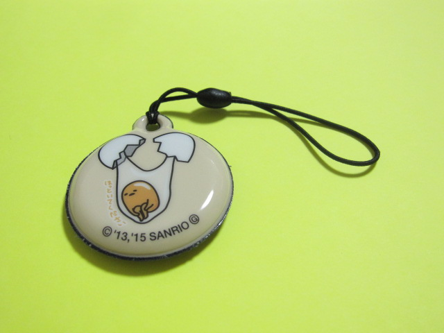 Photo1: Kawaii Cute Gudetama Cell Phone Display Cleaner Strap *04