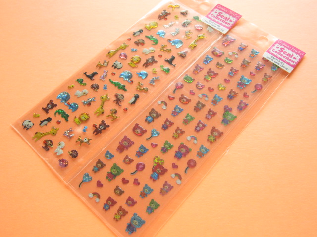 Photo1: 2 pcs Cute Stickers Sheet Set Gakken