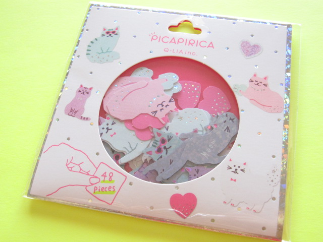 Photo1: PICAPIRICA Sticker Flakes Sack Q-LiA *Cat (11073)