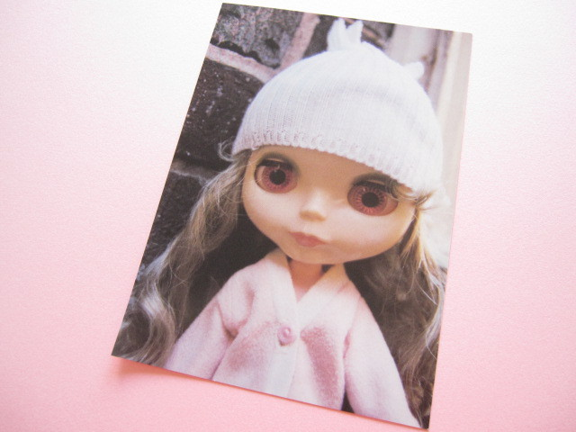 Photo1: Cute Blythe Doll Postcard *Baby pink