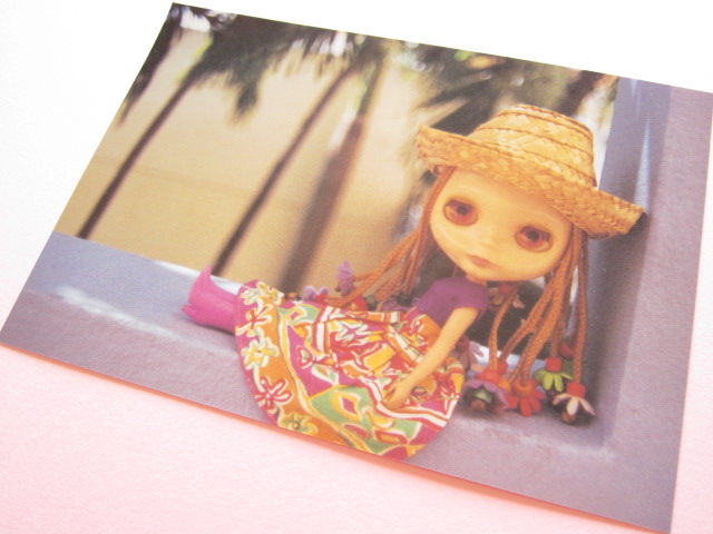 Photo1: Cute Blythe Doll Postcard *Straw hat