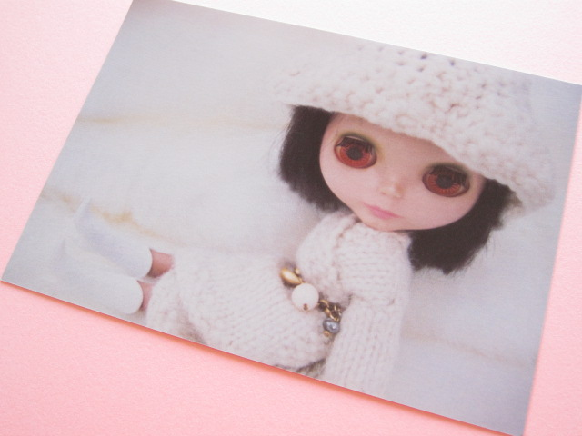 Photo1: Cute Blythe Doll Postcard *Knitwear