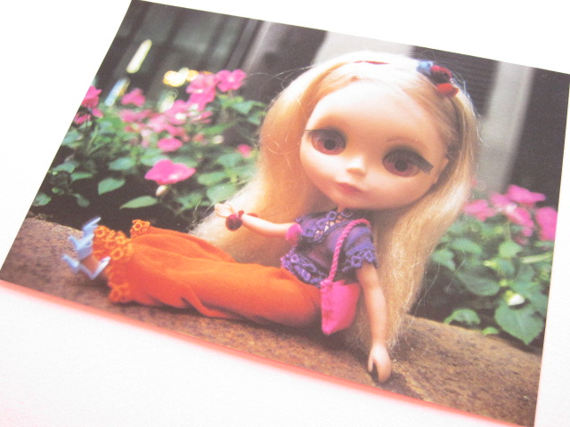 Photo1: Cute Blythe Doll Postcard *Orange pantaloons