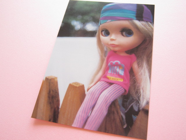 Photo1: Cute Blythe Doll Postcard *Pink & purple