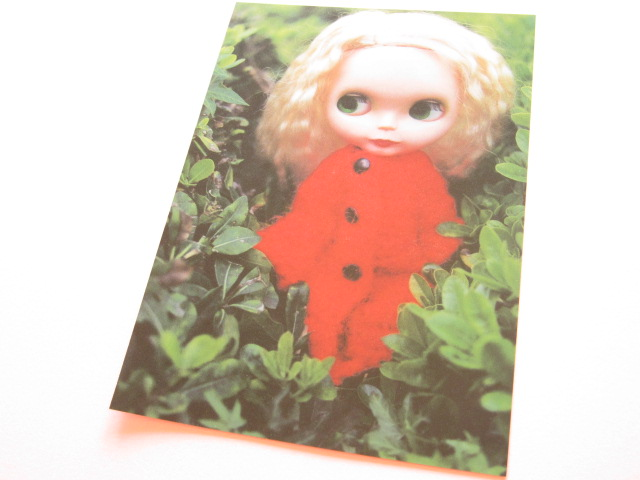 Photo1: Cute Blythe Doll Postcard *Red outfit