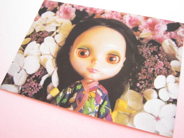 Photo1: Cute Blythe Doll Postcard *Flowers