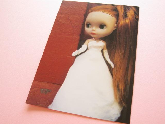 Photo1: Cute Blythe Doll Postcard *White dress
