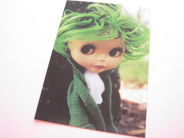 Photo1: Cute Blythe Doll Postcard *Green style