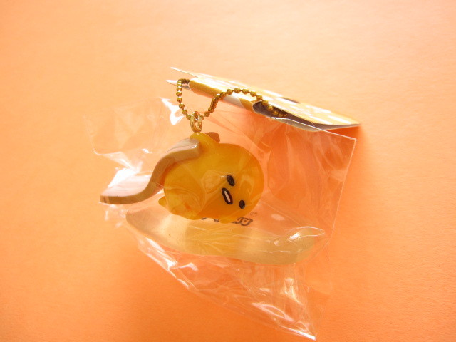 Photo1: Kawaii Cute Gudetama Keychain Charm Sanrio Japan Exclusive *厚切りベーコン Slab of bacon (GD01-3)