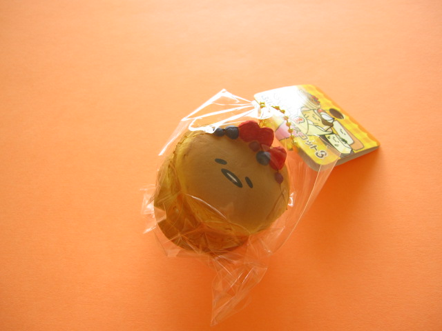 Photo1: Kawaii Cute Gudetama Squishy Keychain Charm Sanrio Japan Exclusive *Pancake (NS0251-1)
