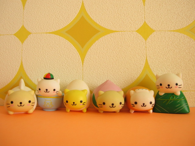 Photo1: 6 pcs Kawaii Cute Chinese Food Mini Dolls Set San-x *Nyan Nyan Nyanko