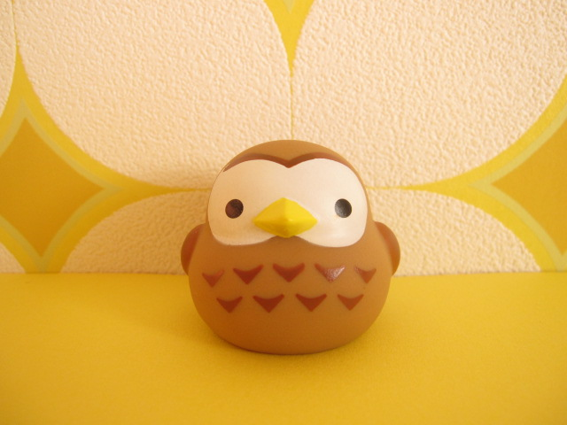 Photo1: Kawaii Cute Owl Mini Figure Doll