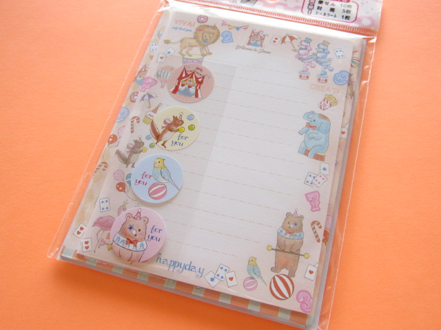 Photo1: Kawaii Cute Mini Letter Set Lemon *Circus (886804-2)
