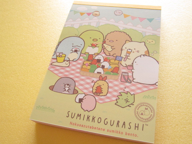 Photo1: Kawaii Cute Large Memo Pad San-x Sumikkogurashi *Sumikko Bento (MW23001)