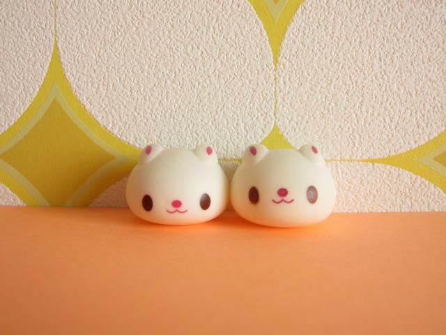Photo1: Kawaii Cute Usadango Tiny Bunny Mascot Dolls Set *White