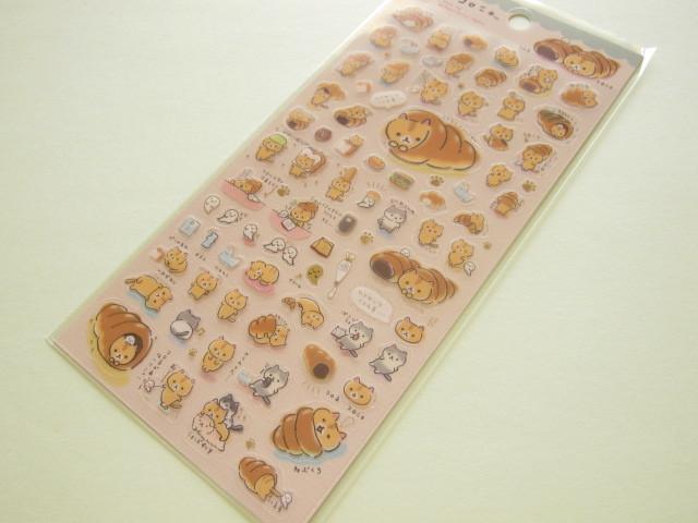 Photo1: Kawaii Cute Sticker Sheet Corocorocoronya San-x *Corone pan to hitomishiri neko (SE32701)
