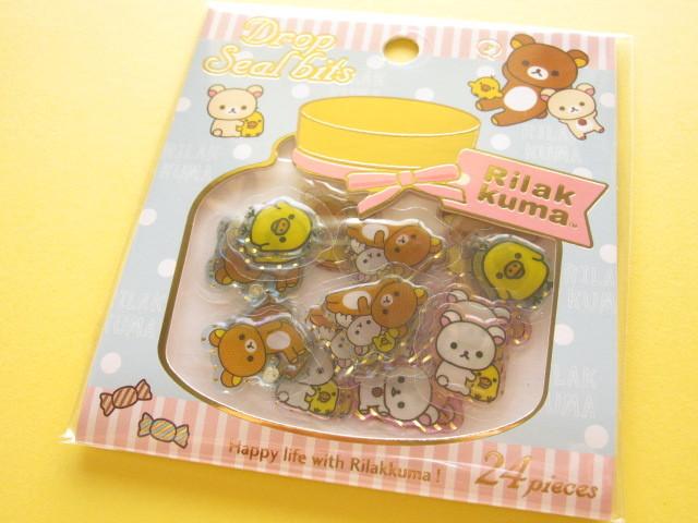 Photo1: Drop Seal Bits Kawaii Cute Sticker Flakes Sack San-x *Rilakkuma (SE32001)