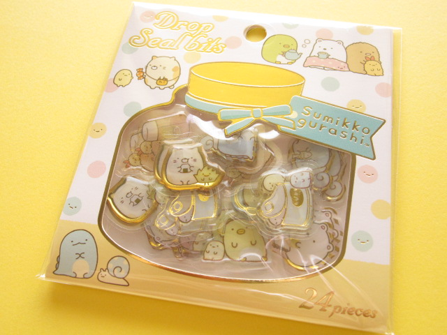 Photo1: Drop Seal Bits Kawaii Cute Sticker Flakes Sack San-x *Sumikkogurashi (SE32003)