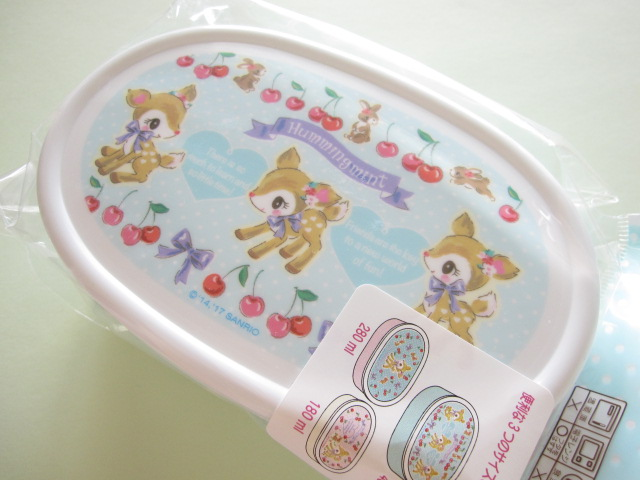 Photo1: 3 pcs Kawaii Cute Bento Lunch Box Container Set Sanrio Original *Hummingmint (49659-6)