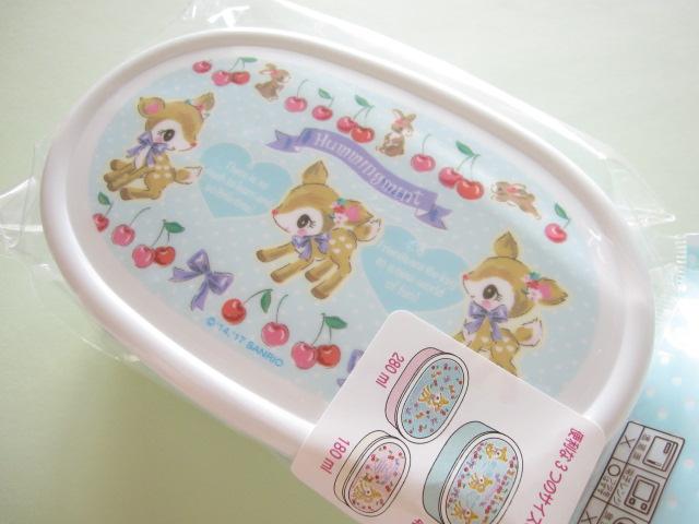Photo1: 3 pcs Kawaii Cute Bento Lunch Box Container Set Sanrio Original *Hummingmint (49659-6)