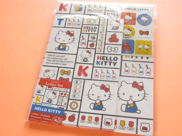 Photo1: Kawaii Cute Letter Set Sanrio *Hello Kitty (Square)