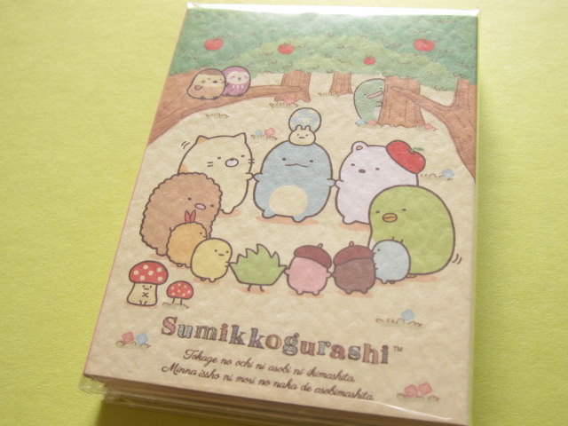 Photo1: Kawaii Cute Mini Memo Pad Set San-x Sumikkogurashi *Tokage no ochi ni asobi ni ikimashita. (MW32601)