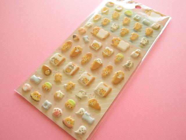 Photo1: Kawaii Cute Puffy Sticker Sheet San-x Corocorocoronya *Panchira hitomishiri  (SE33801)