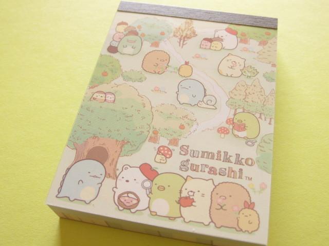 Photo1: Kawaii Cute Mini Memo Pad Sumikkogurashi San-x *Tokage no ochi ni asobi ni ikimashita. (MW32501-2)