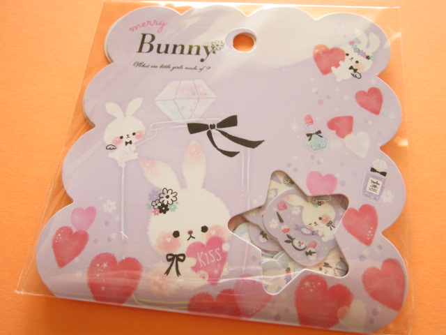 Photo1: Kawaii Cute Sticker Flakes Sack Q-LiA *Bunny (21121)