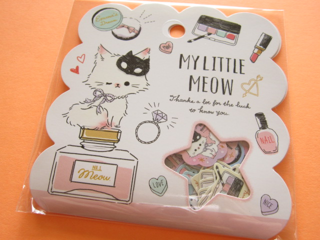 Photo1: Kawaii Cute Sticker Flakes Sack Q-LiA *My Little Meow (21118)