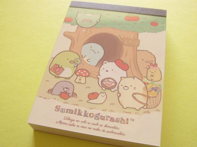 Photo1: Kawaii Cute Mini Memo Pad Sumikkogurashi San-x *Tokage no ochi ni asobi ni ikimashita. (MW32501-4)