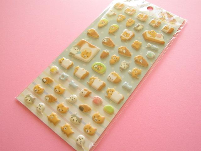 Photo1: Kawaii Cute Puffy Sticker Sheet San-x Corocorocoronya *Panchira hitomishiri  (SE33802)
