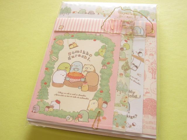 Photo1: Kawaii Cute Letter Set San-x Sumikkogurashi *Tokage no ochi ni asobi ni ikimashita. (LH62401)