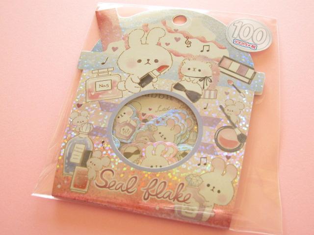 Photo1: Kawaii Cute Sticker Flakes Sack Kamio Japan *Secret Rabbit (04230)