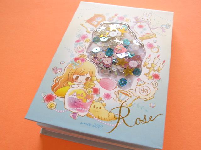 Photo1: Kawaii Cute Spangle Medium Memo Pad Little Fairy Tale Q-LiA *Tinker Bell (24412)