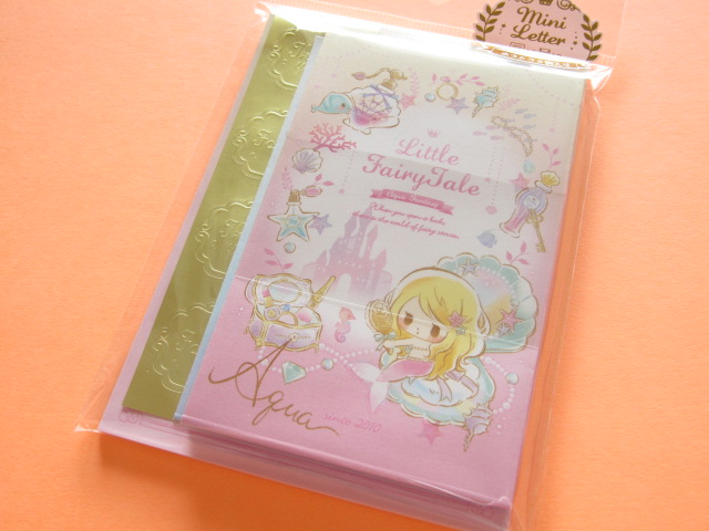 Photo1: Kawaii Cute Mini Letter Set Little Fairy Tale Q-LiA *Little Mermaid (24469)