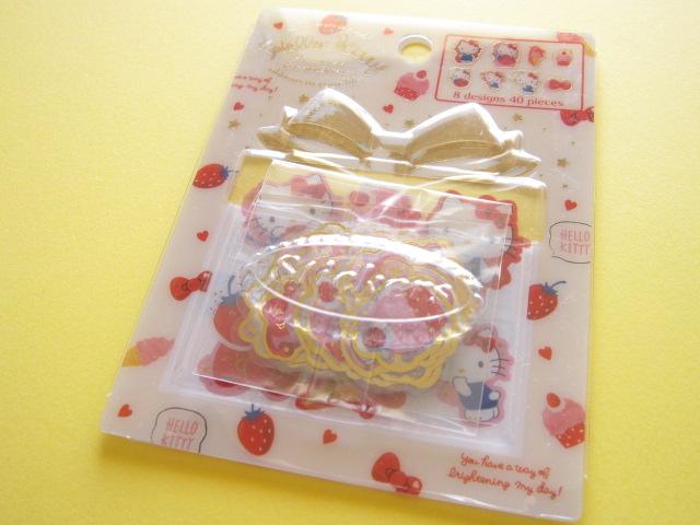 Photo1: Kawaii Cute Sticker Flakes Case Sanrio Original *Hello Kitty (33349-2)