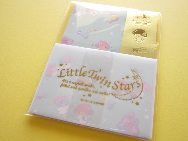 Photo1: Kawaii Cute Mini Letter Set Sanrio Original*Little Twin Stars (33381-6)