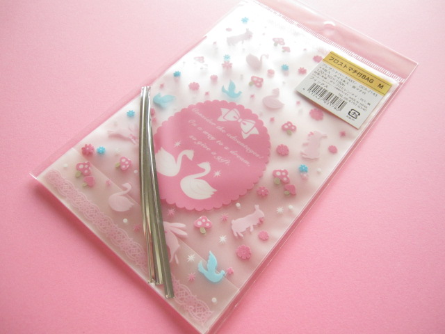 Photo1: 4pcs Kawaii Cute Cello Candy Gift Bags Set *Bird (OCA-2143)