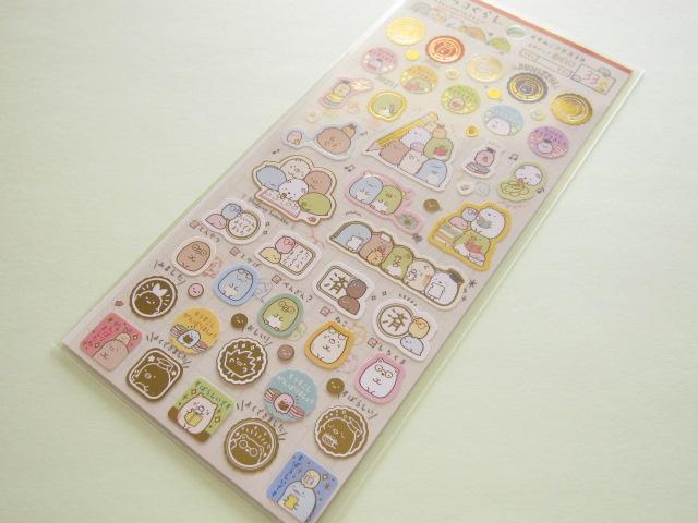 Photo1: Kawaii Cute Sticker Sheet Sumikkogurashi San-x *Studying Sumikko (SE34201)