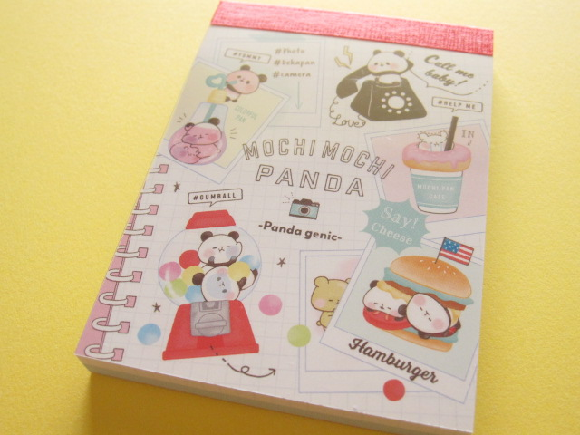 Photo1: Kawaii Cute Mini Memo Pad Mochi Mochi Panda Kamio Japan *Panda Genic (00545)