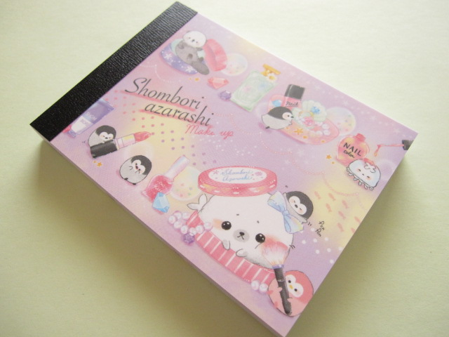 Photo1: Kawaii Cute Mini Memo Pad Crux Shombori Azarashi *Make up (44353)