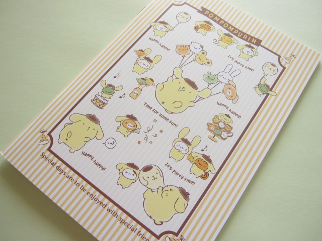 Photo1: Kawaii Cute A5 Notebook Sanrio Original *POMPOMPURIN (93223-0)